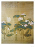 Lotus Pond, 1726 Print by Hua Yan