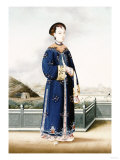 An Elegantly Dressed Chinese Hong Merchant's Wife, Chinese School, 19th Century Giclee Print