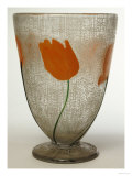 A Daum Art Deco Marquetry and Applied Vase Prints by  Daum