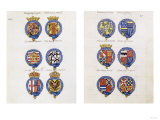 Order of the Garter with the Arms of the Knights of the Garter from Its Foundation Until 1603 Prints