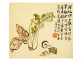 Flowers and Bird, Vegetables and Fruits Giclee Print by Li Shan