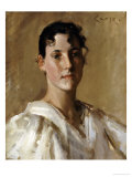 Portrait of a Woman Giclee Print by William Merritt Chase