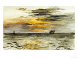 Sunrise off Japan, 1886 Premium Giclee Print by John La Farge