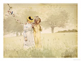 Girls Strolling in an Orchard, 1879 Posters by Winslow Homer
