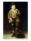 Shoeshine Boy, 1884 Giclee Print by John George Brown
