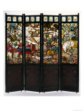 An Aesthetic Movement Stained and Painted Glass Screen Giclee Print by John Moyr Smith