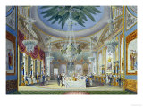 The Banqueting Room at the Royal Pavilion, Brighton, 1826 Premium Giclee Print by John Nash