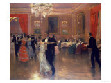 At the Ball Giclee Print by Frederick Vezin