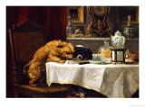 While Masters Away Poster by Henriette Ronner-Knip