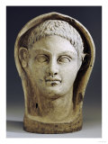 Etruscan Terracotta Votive Male Head, circa 4th-3rd Century BC Posters