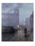 Grand Central and the Biltmore in Hazy Twilight Giclee Print by Lowell Birge Harrison