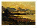 Sunset at Manchester, Massachusetts, from Sandy Hollow, 1877 Giclee Print by Willard Leroy Metcalf