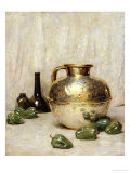 Still Life with Green Peppers and Jug Premium Giclee Print by Soren Emil Carlsen