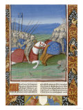 Charles the Bald Routing His Brothers, from Les Grandes Chroniques de France, 1493 Giclee Print