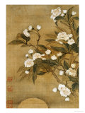 Pear Blossom and Moon Giclee Print by Yun Shouping