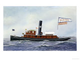 M. Moran Tug Boat, 1901 Giclee Print by Antonio Jacobsen