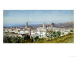 View of Florence, 1874 Print by Samuel Colman
