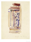 Certosa di Pavia, Study of an Angel Statue, 1891 Art by Charles Rennie Mackintosh