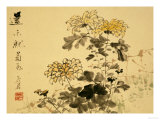 Chrysanthemums, A Leaf from an Album of Various Subjects Giclee Print by Xu Gu