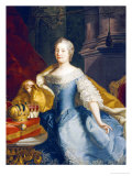 Portrait of the Empress Maria-Theresa, 1749 Giclee Print by Johann Gottfried Auerbach