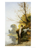 The Bather Premium Giclee Print by Hermann David Salomon Corrodi