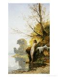 The Bather Premium Giclee Print by Hermann David Salomon Corrodi