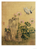 Silk Leaf from an Album of Flower and Bird Paintings (18th Century) Giclee Print by Jing Yi