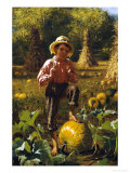 That's Me Pumpkin, 1879 Giclee Print by John George Brown