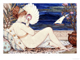 A Minton Earthenware Plaque of a Painted Female Nude, Dated 1872 Giclee Print by W.s. Coleman