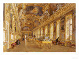 The Interior of the Louvre, the Galerie d'Apollon Giclee Print by Victor Duval