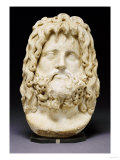 Roman Marble Head of Serapis, circa 2nd Century AD Posters