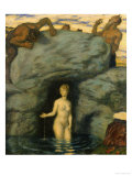 Quellnymphe Von Faunen Belauscht, 1911 Giclee Print by Franz von Stuck