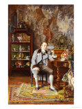The Connoisseur Print by Johann Hamza