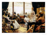 Five O'clock Tea, 1883-4 Giclee Print by Julius Leblanc Stewart