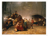 The Party in the Maple Sugar Camp, circa 1861-66 Reproduction proc&#233;d&#233; gicl&#233;e par Eastman Johnson