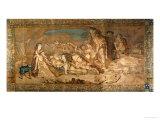 Prince Charles Edward Stuart (1720-1788), Asleep in a Cave After the Battle of Culloden Giclée-Druck von H. Verbeocken