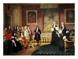 A Royal Stateroom, Dated 1859 Giclee Print by Joseph Caraud