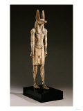 An Egyptian Wood Figure of a Jackal-Headed Deity, New Kingdom, 1550-1070 BC Reproduction procédé giclée