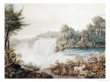 Niagara Falls, View of the American Fall, Taken from Goat Island, circa 1831 Giclee Print by William James Bennett