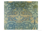 Detail of a Pair of Morris & Co Peacock and Dragon Woven Twill Curtains, circa 1889 Giclee Print by Christopher Dresser