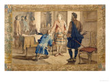 A Tapestry Cartoon Depicting Fergus Mcivor Introducing Waverley to the Prince Giclee Print by H. Verbeocken