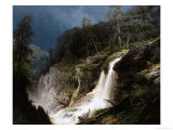 Western Waterfall Giclee Print by Hermann Herzog