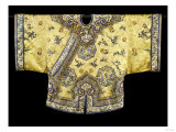 A Pale Yellow-Ground Silk-Embroidered Jacket, 19th Century Giclee Print