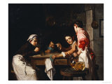 The Young Card Players Premium Giclee Print by Joseph Bail