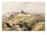 View of Jerusalem, Early 19th Century Prints by David Roberts