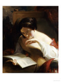 Portrait of a Girl Reading, 1842 Posters by Thomas Sully