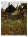 The Poppy Field Premium Giclee Print by Willard Leroy Metcalf
