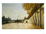 A View of the Conciergerie, Paris, from the Right Bank of the Seine Giclee Print by Henri Linguet