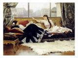 Sarah Bernhardt (1844-1923) and Christine Nilsson (1843-1921) Giclee Print by Julius Leblanc Stewart