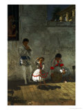 Street Scene in Seville Prints by Thomas Cowperthwait Eakins